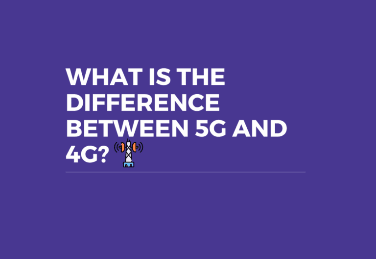 what is the difference between 4g and 5g