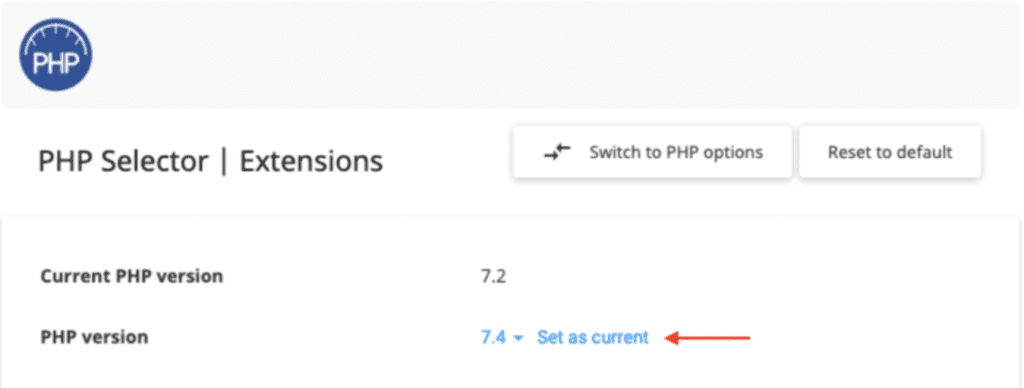 how to update php in namecheap